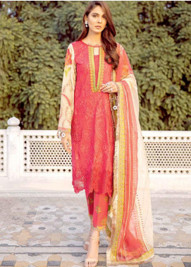 Charizma Embroidered Lawn Unstitched 3 Piece Suit CRZ20LS 9 - Spring / Summer Collection