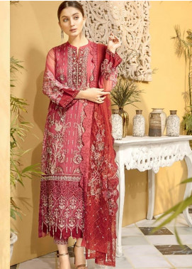 Charizma Embroidered Organza Unstitched 3 Piece Suit CRZ20ML 02 - Luxury Collection