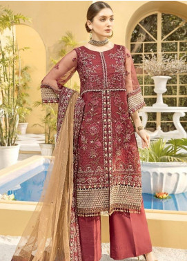 Charizma Embroidered Organza Unstitched 3 Piece Suit CRZ20ML 05 - Luxury Collection