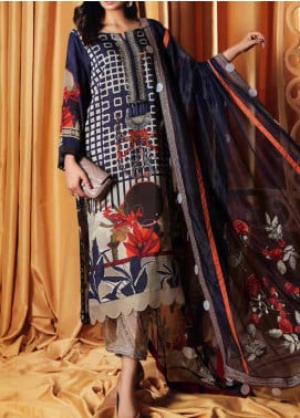 Charizma Embroidered Viscose Unstitched 3 Piece Suit CRZ20VS 03 - Winter Collection