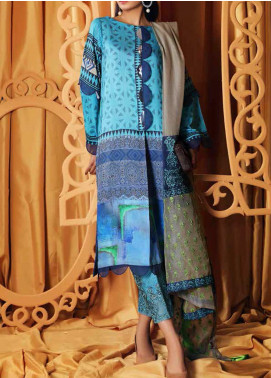 Charizma Embroidered Viscose Unstitched 3 Piece Suit CRZ20VS 06 - Winter Collection