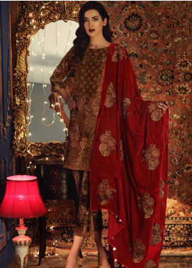 Charizma Embroidered Velvet Unstitched 3 Piece Suit CRZ19V 02 - Winter Collection