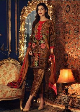 Charizma Embroidered Velvet Unstitched 3 Piece Suit CRZ19V 04 - Winter Collection