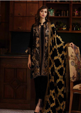 Charizma Embroidered Velvet Unstitched 3 Piece Suit CRZ19V 05 - Winter Collection