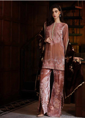 Charizma Embroidered Velvet Unstitched 3 Piece Suit CRZ19V 07 - Winter Collection