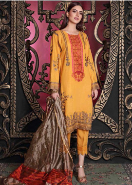 Charizma Embroidered Slub Unstitched 3 Piece Suit CRZ20SL 02 - Winter Collection