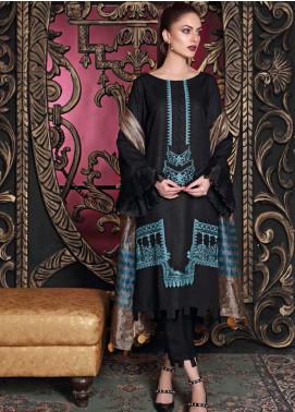 Charizma Embroidered Slub Unstitched 3 Piece Suit CRZ20SL 08 - Winter Collection
