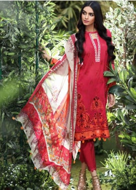 Charizma Embroidered Swiss Voile Unstitched 3 Piece Suit CRZ20S 06 - Spring / Summer Collection