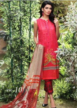 Charizma Embroidered Swiss Voile Unstitched 3 Piece Suit CRZ20S 10 - Spring / Summer Collection