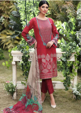 Charizma Embroidered Swiss Voile Unstitched 3 Piece Suit CRZ20S 13 - Spring / Summer Collection
