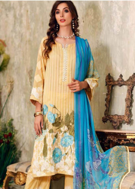 Charizma Embroidered Swiss Voile Unstitched 3 Piece Suit CRZ19-S3 29 - Eid Collection