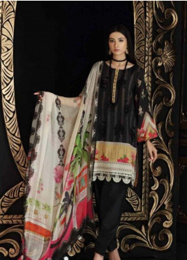 Charizma Embroidered Swiss Voile Unstitched 3 Piece Suit CRZ19-S4 40 - Festive Collection