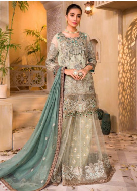Chashme Baddoor by Flossie Embroidered Chiffon Unstitched 3 Piece Suit FL20CB 601 Tiffany - Luxury Formal Collection