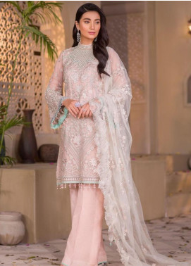 Chashme Baddoor by Flossie Embroidered Chiffon Unstitched 3 Piece Suit FL20CB 602 Raizel - Luxury Formal Collection