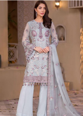 Chashme Baddoor by Flossie Embroidered Chiffon Unstitched 3 Piece Suit FL20CB 603 Morenci - Luxury Formal Collection
