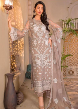 Chashme Baddoor by Flossie Embroidered Chiffon Unstitched 3 Piece Suit FL20CB 604 Arha - Luxury Formal Collection