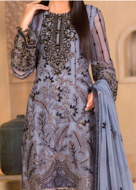 Chashme Baddoor by Flossie Embroidered Chiffon Unstitched 3 Piece Suit FL20CB 605 Zeb - Luxury Formal Collection