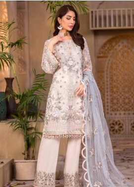Chashme Baddoor by Flossie Embroidered Organza Unstitched 3 Piece Suit FL20CB 608 Eliza - Luxury Formal Collection