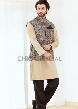 Chic Ophicial Wash N Wear Fancy 3 Piece for Men -  Batik effect