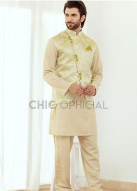 Chic Ophicial Wash N Wear Fancy 3 Piece for Men - Lemon Grass