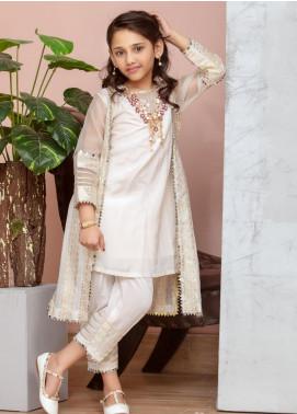Chic Ophicial Cotton Fancy Girls 2 Piece Suit -  Mini Eid Shenanigans