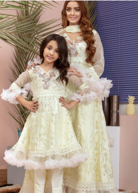 Chic Ophicial Organza Fancy 2 Piece Suit for Girls -  Mini Marshmallow