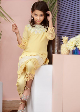 Chic Ophicial Chiffon Fancy 2 Piece Suit for Girls -  Mini Sunlight
