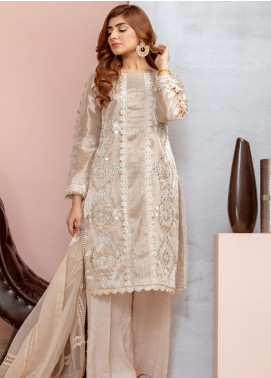 Chic Ophicial Embroidered Tissue Stitched 3 Piece Suit Mirror Maze