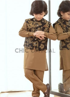 Chic Ophicial Wash N Wear Fancy 3 Piece for Boys -  Dark Knight