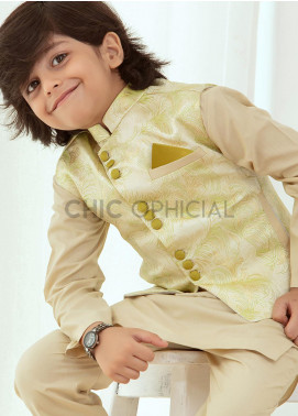 Chic Ophicial Wash N Wear Fancy 3 Piece for Boys -  Lemon Grass