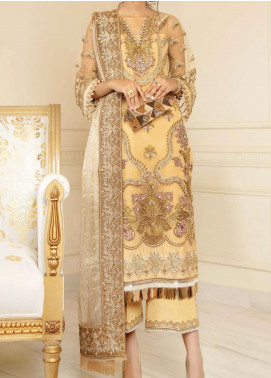 Chimere by Serene Embroidered Net Unstitched 3 Piece Suit SP21C 1023 Gold Mode - Premium Collection