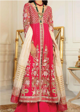 Chimere by Serene Embroidered Chiffon Unstitched 3 Piece Suit SP21C 1026 Pinkfinity - Premium Collection