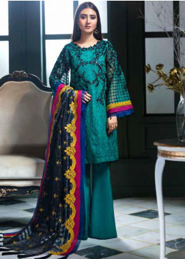 Chimmer by Charizma Embroidered Chiffon Unstitched 3 Piece Suit CH20CRZ 05 - Festive Collection
