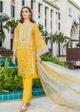 Chimmer by Charizma Embroidered Chiffon Unstitched 3 Piece Suit CH20CRZ 07 - Festive Collection