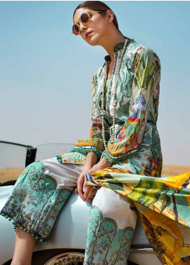 Crimson Embroidered Lawn Unstitched 3 Piece Suit CR18L 5B - Spring / Summer Collection