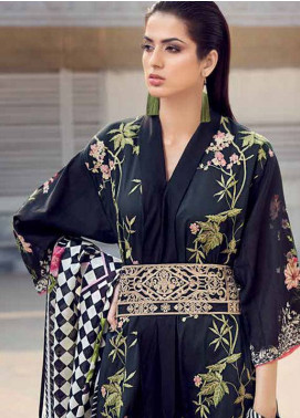 Gul Ahmed Embroidered Lawn Unstitched 3 Piece Suit GA18L CL-318 - Essential Collection