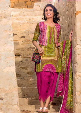 Gul Ahmed Printed Lawn Unstitched 3 Piece Suit GA18L CL-377A - Essential Collection