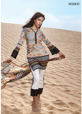 Embroidered Lawn Unstitched 3 Piece Suit CL17L 01