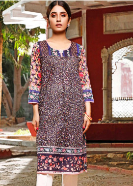 Zaibunnisa Printed Lawn Stitched Kurtis ZN20CL 03-Floral Mist