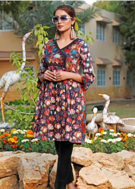 Zaibunnisa Printed Lawn Stitched Kurtis ZN20CL 08-Color Pop