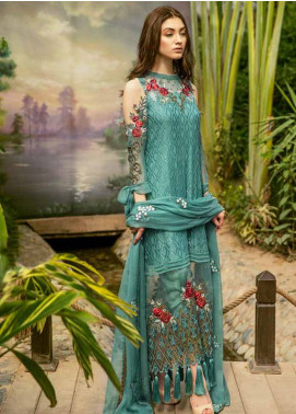 Coir Embroidered Chiffon Unstitched 3 Piece Suit CO18C 01 - Luxury Collection