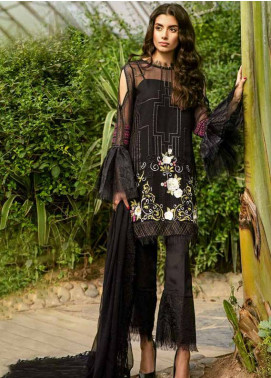 Coir Embroidered Chiffon Unstitched 3 Piece Suit CO18C 04 - Luxury Collection