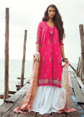 Coco By Zara Shahjahan Embroidered Lawn Unstitched 3 Piece Suit COC18L 10A - Eid Collection