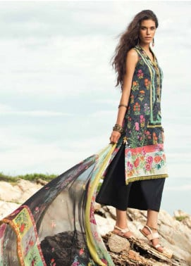 Coco By Zara Shahjahan Embroidered Lawn Unstitched 3 Piece Suit COC18L 1A - Eid Collection
