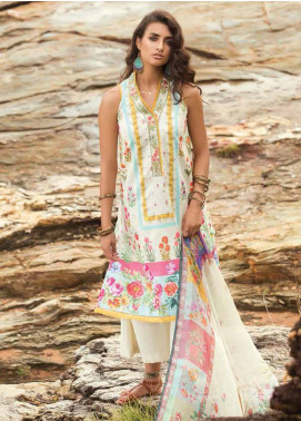 Coco By Zara Shahjahan Embroidered Lawn Unstitched 3 Piece Suit COC18L 1B - Eid Collection