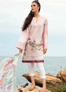 Coco By Zara Shahjahan Embroidered Lawn Unstitched 3 Piece Suit COC18L 2A - Eid Collection