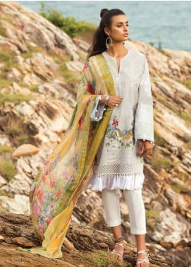Coco By Zara Shahjahan Embroidered Lawn Unstitched 3 Piece Suit COC18L 2B - Eid Collection