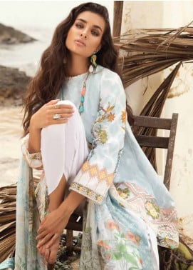 Coco By Zara Shahjahan Embroidered Lawn Unstitched 3 Piece Suit COC18L 3A - Eid Collection