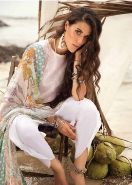 Coco By Zara Shahjahan Embroidered Lawn Unstitched 3 Piece Suit COC18L 3B - Eid Collection