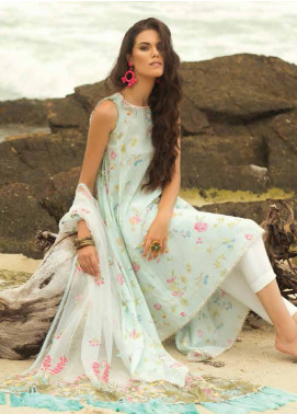 Coco By Zara Shahjahan Embroidered Lawn Unstitched 3 Piece Suit COC18L 4A - Eid Collection